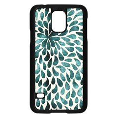 Teal Abstract Swirl Drops Samsung Galaxy S5 Case (black) by snowwhitegirl