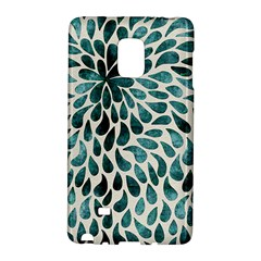 Teal Abstract Swirl Drops Samsung Galaxy Note Edge Hardshell Case by snowwhitegirl