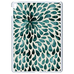 Teal Abstract Swirl Drops Apple Ipad Pro 9 7   White Seamless Case by snowwhitegirl