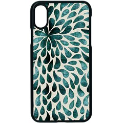 Teal Abstract Swirl Drops Apple Iphone X Seamless Case (black) by snowwhitegirl