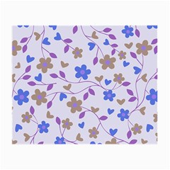 Blue Vintage Flowers Small Glasses Cloth (2 Side) by snowwhitegirl