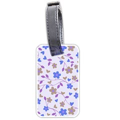 Blue Vintage Flowers Luggage Tags (one Side)  by snowwhitegirl