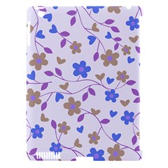 Blue Vintage Flowers Apple Ipad 3/4 Hardshell Case (compatible With Smart Cover) by snowwhitegirl