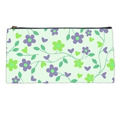 Green Vintage Flowers Pencil Cases by snowwhitegirl