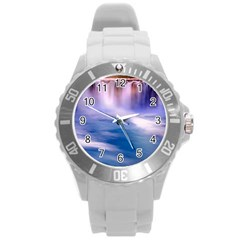 Waterfall Round Plastic Sport Watch (l) by snowwhitegirl