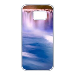 Waterfall Samsung Galaxy S7 Edge White Seamless Case
