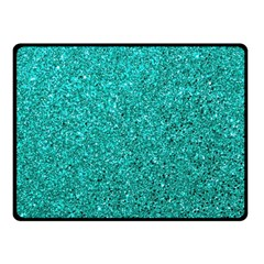 Aqua Glitter Fleece Blanket (small) by snowwhitegirl