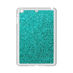 Aqua Glitter Ipad Mini 2 Enamel Coated Cases by snowwhitegirl