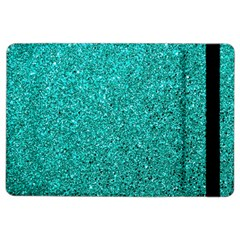Aqua Glitter Ipad Air 2 Flip by snowwhitegirl