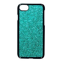 Aqua Glitter Apple Iphone 7 Seamless Case (black) by snowwhitegirl