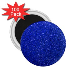 Blue Glitter 2 25  Magnets (100 Pack)  by snowwhitegirl