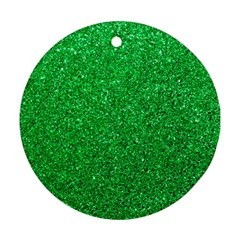Green Glitter Ornament (round) by snowwhitegirl