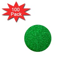 Green Glitter 1  Mini Buttons (100 Pack)  by snowwhitegirl