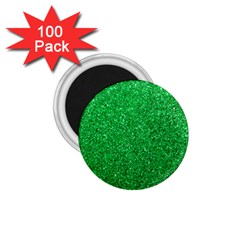 Green Glitter 1 75  Magnets (100 Pack)  by snowwhitegirl