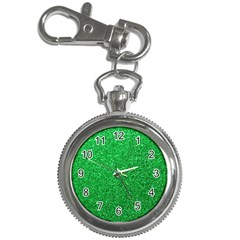 Green Glitter Key Chain Watches by snowwhitegirl