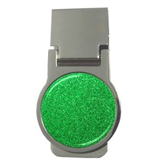 Green Glitter Money Clips (round)  by snowwhitegirl