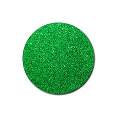 Green Glitter Rubber Coaster (round)