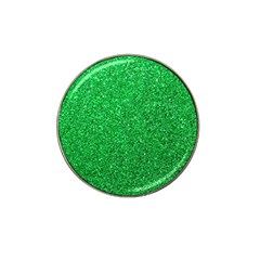 Green Glitter Hat Clip Ball Marker by snowwhitegirl