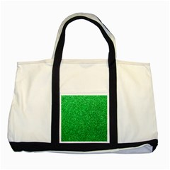 Green Glitter Two Tone Tote Bag by snowwhitegirl