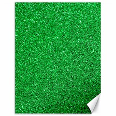Green Glitter Canvas 18  X 24   by snowwhitegirl