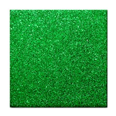 Green Glitter Face Towel by snowwhitegirl