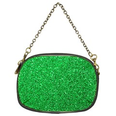 Green Glitter Chain Purse (two Sides) by snowwhitegirl