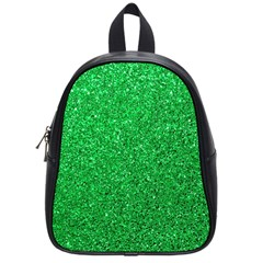 Green Glitter School Bag (small) by snowwhitegirl