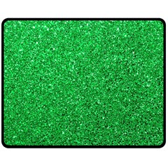 Green Glitter Fleece Blanket (medium)  by snowwhitegirl