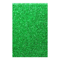 Green Glitter Shower Curtain 48  X 72  (small)  by snowwhitegirl