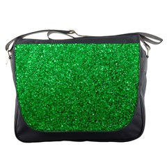 Green Glitter Messenger Bag by snowwhitegirl