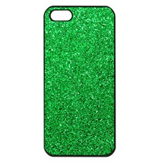 Green Glitter Apple Iphone 5 Seamless Case (black) by snowwhitegirl