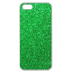 Green Glitter Apple Seamless Iphone 5 Case (clear) by snowwhitegirl