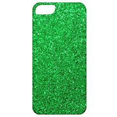 Green Glitter Apple Iphone 5 Classic Hardshell Case by snowwhitegirl