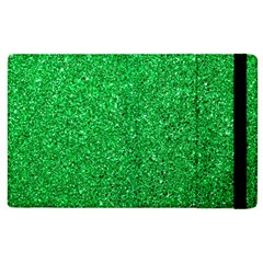 Green Glitter Apple Ipad 2 Flip Case by snowwhitegirl