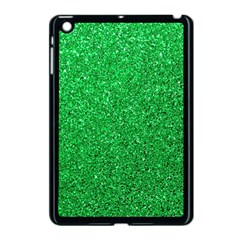 Green Glitter Apple Ipad Mini Case (black) by snowwhitegirl