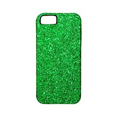 Green Glitter Apple Iphone 5 Classic Hardshell Case (pc+silicone) by snowwhitegirl