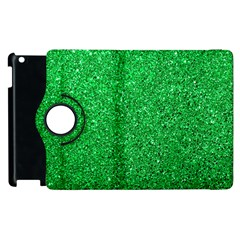 Green Glitter Apple Ipad 3/4 Flip 360 Case by snowwhitegirl