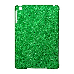 Green Glitter Apple Ipad Mini Hardshell Case (compatible With Smart Cover) by snowwhitegirl