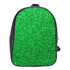 Green Glitter School Bag (xl) by snowwhitegirl