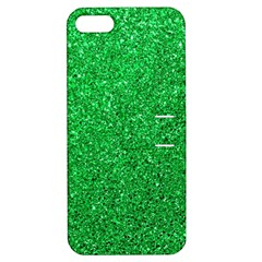Green Glitter Apple Iphone 5 Hardshell Case With Stand by snowwhitegirl