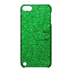 Green Glitter Apple Ipod Touch 5 Hardshell Case With Stand by snowwhitegirl