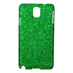 Green Glitter Samsung Galaxy Note 3 N9005 Hardshell Case by snowwhitegirl