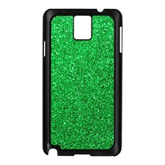 Green Glitter Samsung Galaxy Note 3 N9005 Case (black) by snowwhitegirl