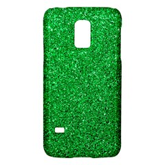 Green Glitter Samsung Galaxy S5 Mini Hardshell Case  by snowwhitegirl