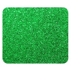Green Glitter Double Sided Flano Blanket (small)  by snowwhitegirl