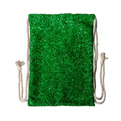 Green Glitter Drawstring Bag (small) by snowwhitegirl