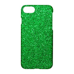 Green Glitter Apple Iphone 7 Hardshell Case by snowwhitegirl