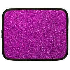 Pink  Glitter Netbook Case (large) by snowwhitegirl