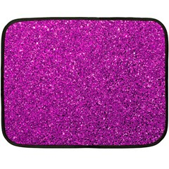 Pink  Glitter Fleece Blanket (mini) by snowwhitegirl