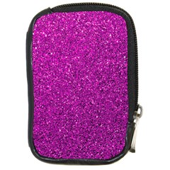 Pink  Glitter Compact Camera Leather Case by snowwhitegirl
